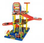 Toi-Toys Garage with 70cm elevator set incl. 6 cars