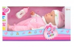 Toi-Toys Lying baby doll with bottle 30cm