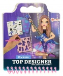 Toi-Toys drawing book with stickers rock star girls purple