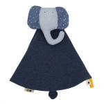 Trixie cuddly blanket Mrs. Elephant7 x 7 cm cotton/textile blue
