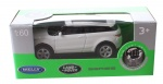 Welly schaalmodel Next 1: 60 Land Rover wit 6,5 cm
